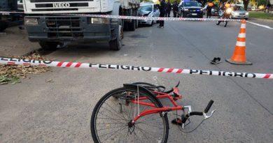 Un ciclista resultó herido  en un siniestro de tránsito en Oroño y Gutiérrez.
