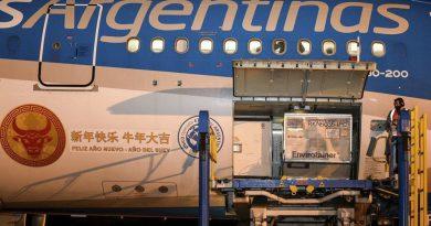 Llega hoy un nuevo vuelo de Aerolíneas de China con más dosis de Sinopharm.